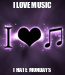 Poster: I LOVE MUSIC I HATE MONDAYS