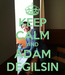 Poster: KEEP CALM AND ADAM DEGILSIN