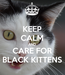 Poster: KEEP CALM AND CARE FOR BLACK KITTENS
