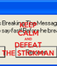 Poster: KEEP CALM AND DEFEAT THE STICKMAN