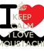 Poster: KEEP CALM AND I LOVE  MOUSTACHE