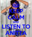 Poster: KEEP CALM AND LISTEN TO ANITTA