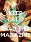 Poster: KEEP CALM AND READ THIS MAGAZINE