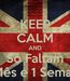 Poster: KEEP CALM AND Só Faltam 1 Mês e 1 Semana
