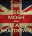 Poster: KEEP MOSH AND STAY BEATDOWN