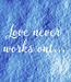Poster: Love never works out...