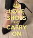 Poster: LOVE SHOES AND CARRY ON