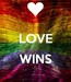 Poster:  LOVE  WINS