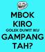 Poster: MBOK KIRO GOLEK DUWIT IKU GAMPANG TAH?
