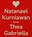 Poster: Natanael Kurniawan love Thea Gabriella