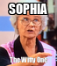 Poster: SOPHIA The Witty One