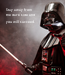 Poster: Stay away from the dark side and you will succeed.