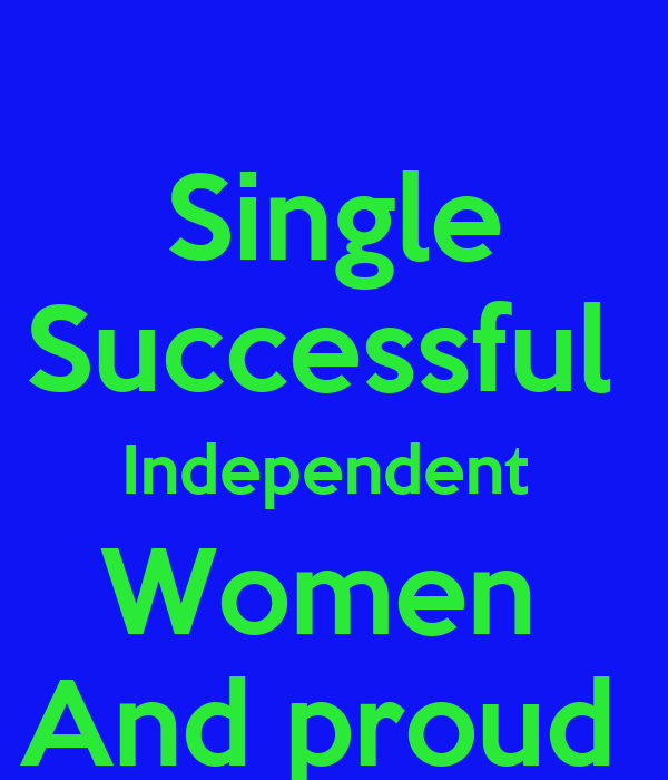 single and successful woman
