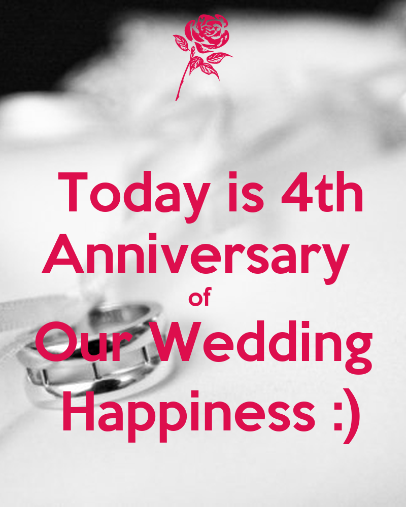 Today is th anniversary of our wedding happiness