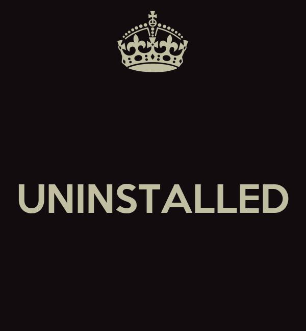 UNINSTALLED Poster   Wooshy   Keep Calm-o-Matic