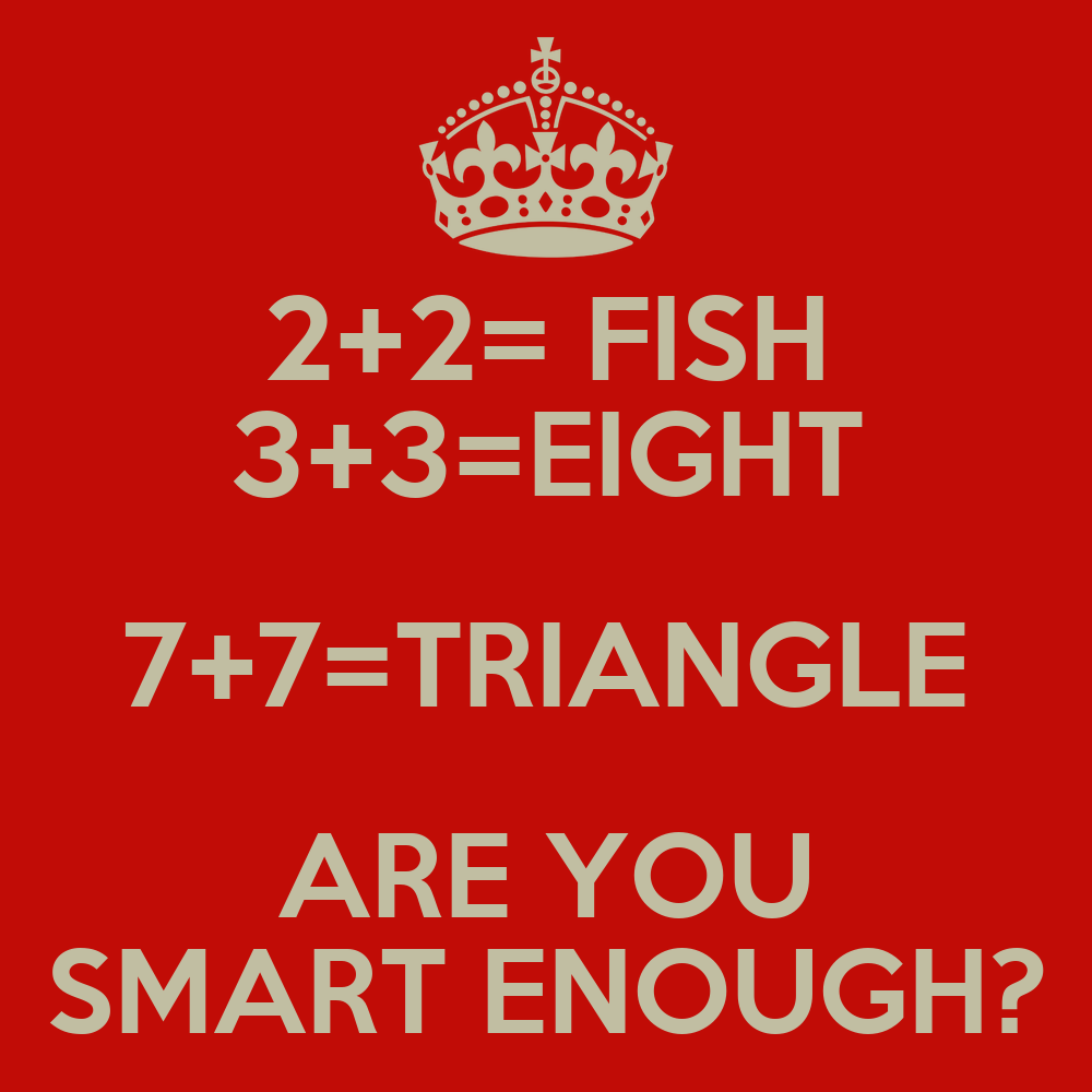 2 2 fish 3 3 eight 7 7 triangle are you smart enough for Are fish smart