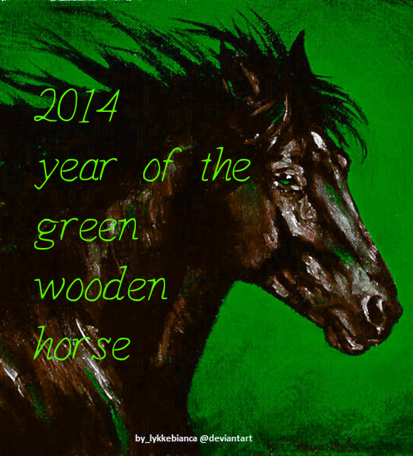 2014 Chinese horoscope year of green wooden horse