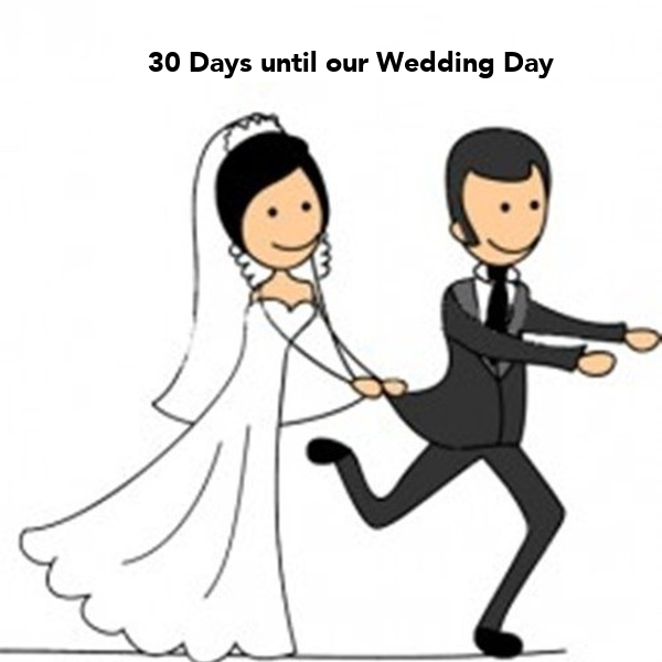 30 Days until our Wedding Day - KEEP CALM AND CARRY ON Image Generator