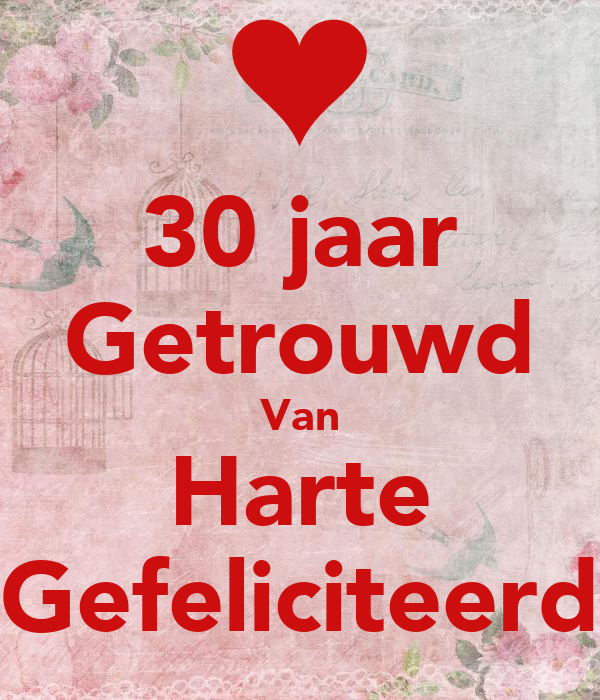 afbeelding 30 jaar getrouwd 30 jaar Getrouwd Van Harte Gefeliciteerd Poster | Waanders | Keep  afbeelding 30 jaar getrouwd