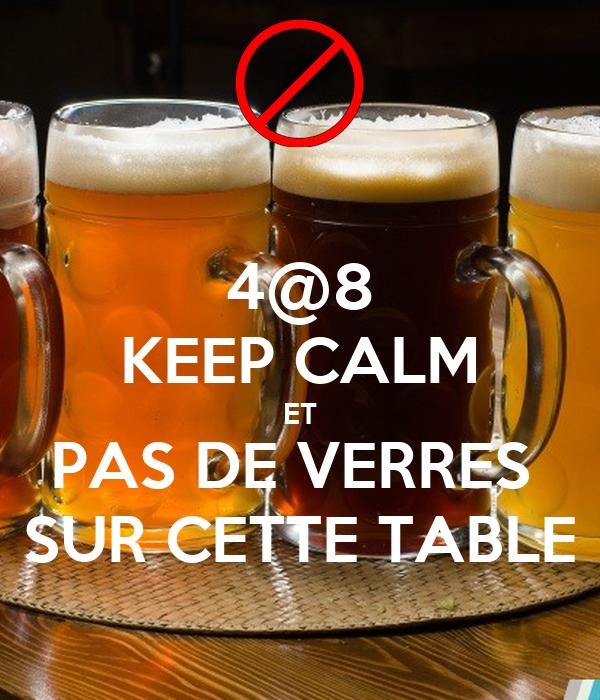 4 8 keep calm et pas de verres sur cette table poster panda keep calm o matic. Black Bedroom Furniture Sets. Home Design Ideas