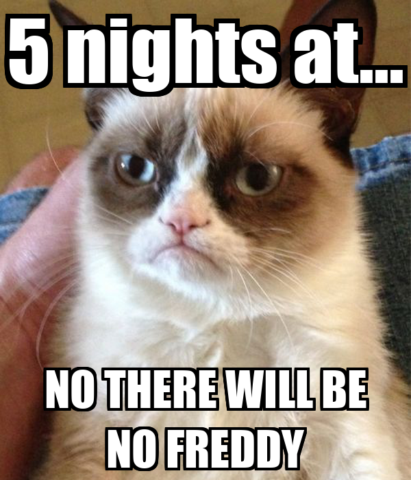 5 nights at... NO THERE WILL BE NO FREDDY - KEEP CALM AND ...