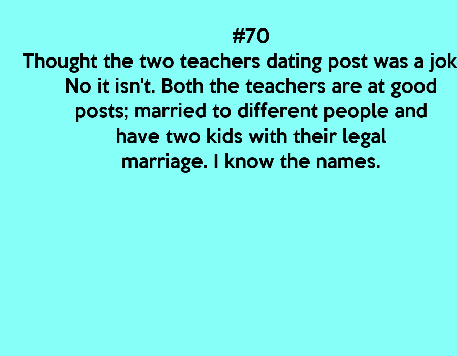 jokes about dating a teacher Enjoy our collection of teacher jokes, after all that's what they are here for.