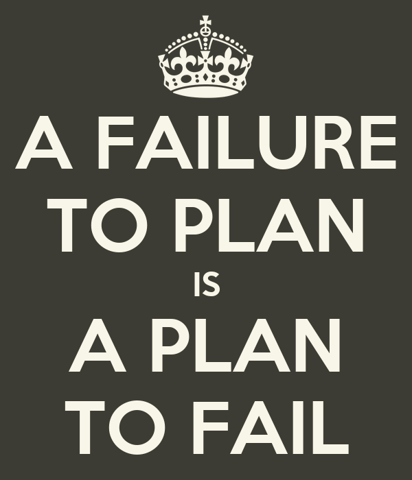 organisations fail to plan are plan Simply put, a strategic plan is a vision of your organization's future and the basic   deficits, failure to meet fundraising goals, executive management squabbles,.