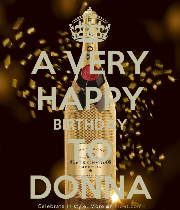 A Very Happy Birthday To Donna Poster Kay Keep Calm O