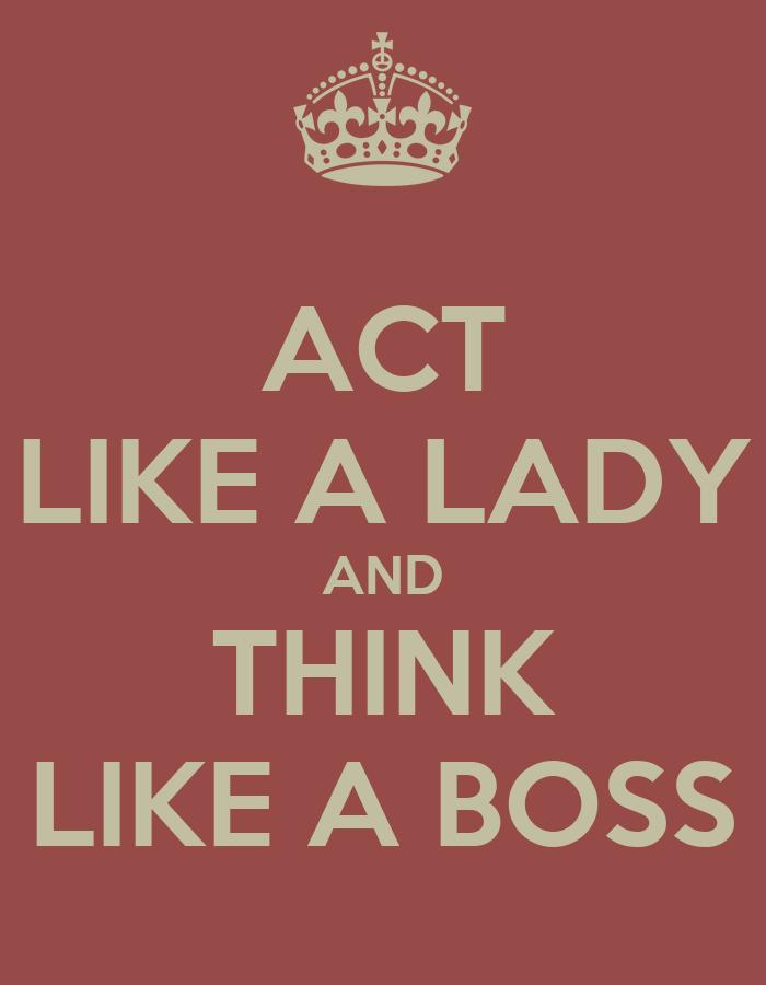 how to think like a lady