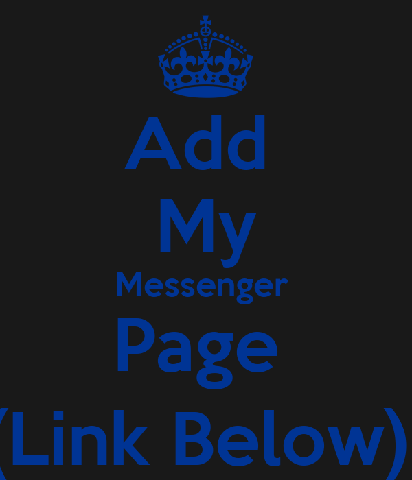how to add a messenger link for my business page