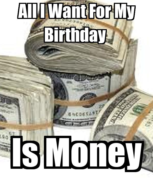 for my money