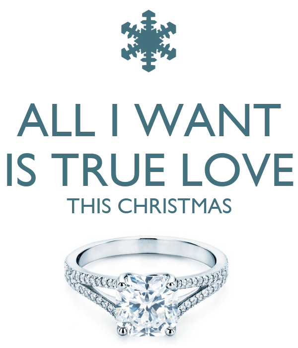 ALL I WANT IS TRUE LOVE THIS CHRISTMAS - KEEP CALM AND