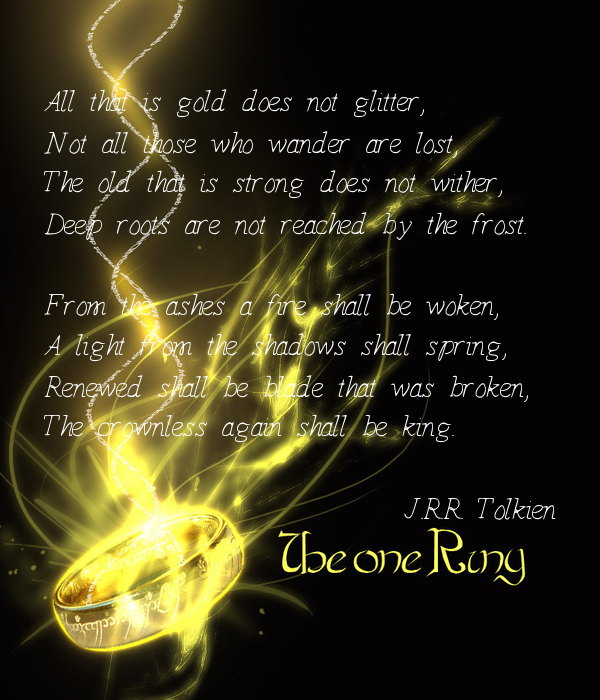 all that is gold does not glitter tolkien