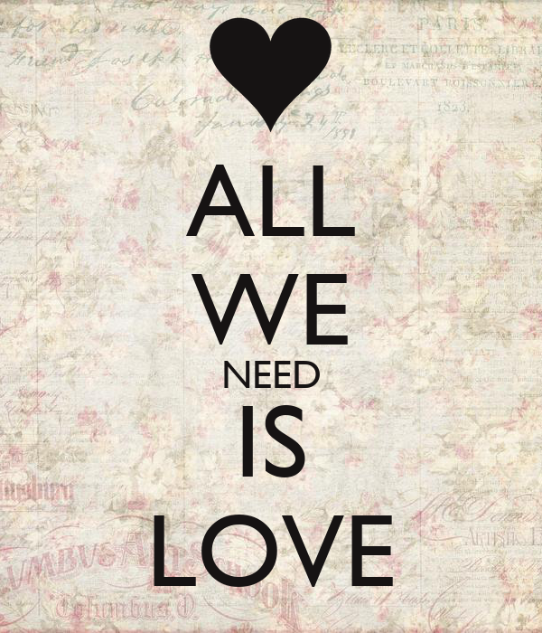 all we need is love poster thais keep calm o matic