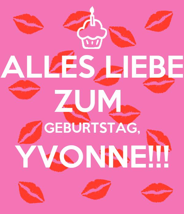 Alles Liebe Zum Geburtstag Yvonne Poster Valentina Keep Calm