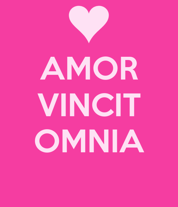 amor vincit omnia poster kim keep calm o matic. Black Bedroom Furniture Sets. Home Design Ideas