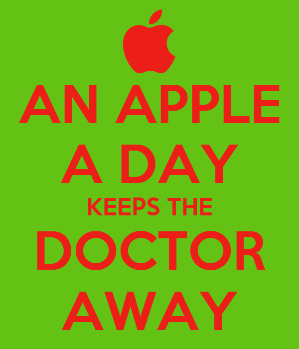 AN APPLE A DAY KEEPS THE DOCTOR AWAY Poster | Ty | Keep Calm-o-Matic