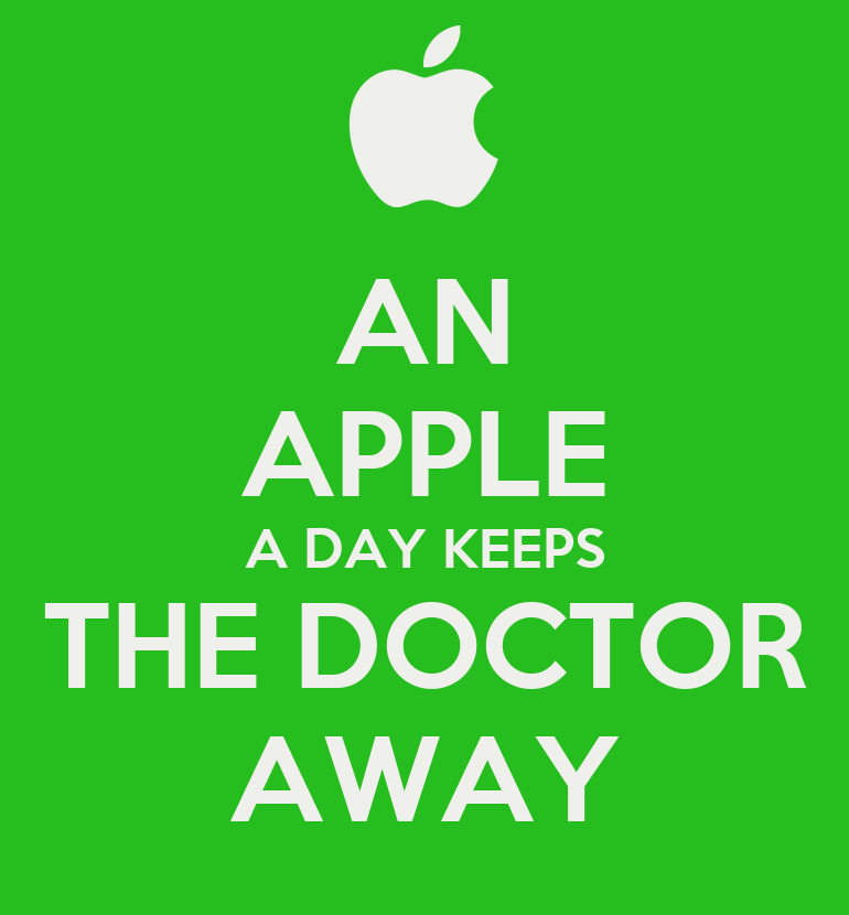 AN APPLE A DAY KEEPS THE DOCTOR AWAY Poster | Appledoctor | Keep Calm ...