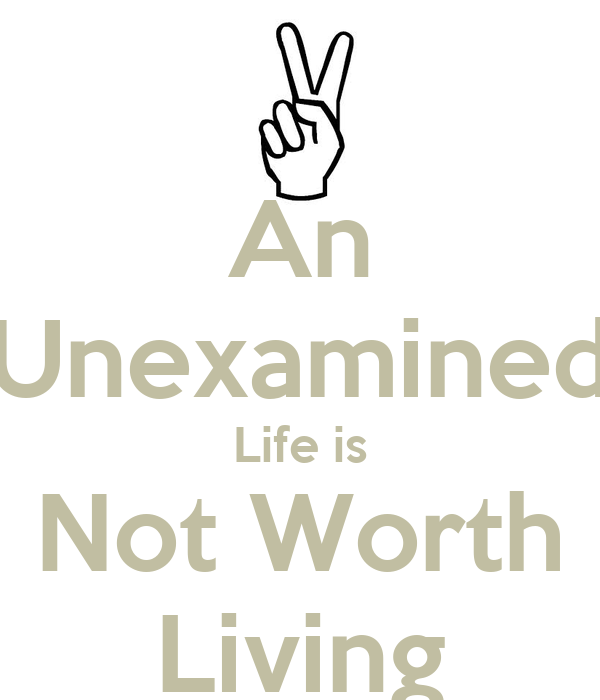 Unexamined life is not worth living essay