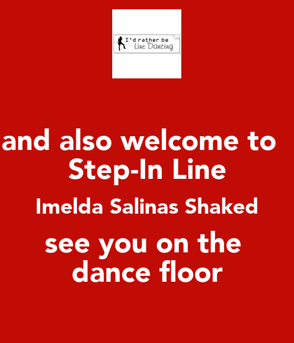 and also welcome to step in line imelda salinas shaked see you on the dance floor poster sandy. Black Bedroom Furniture Sets. Home Design Ideas