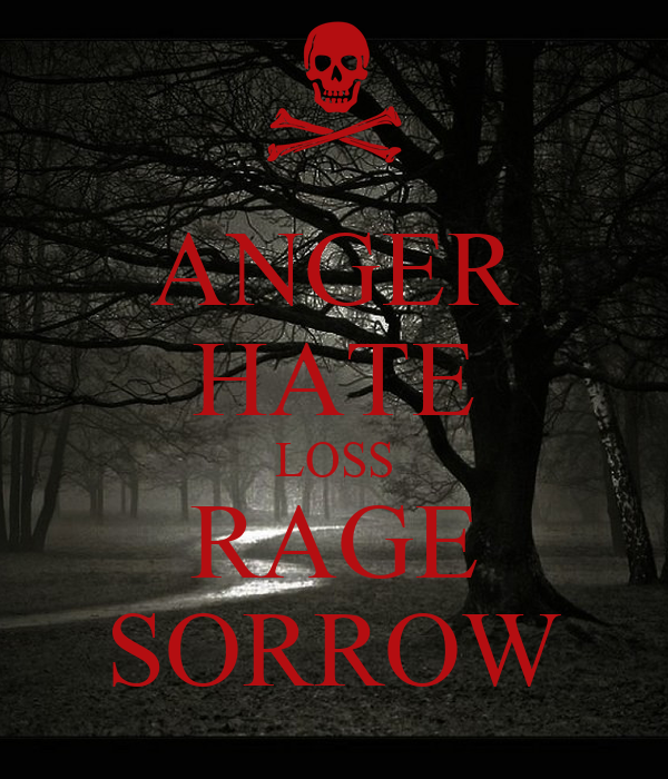 Rage Anger Hate Anger Hate Loss Rage Sorrow