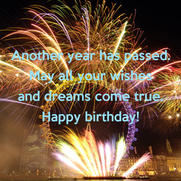 another year has passed may all your wishes and dreams come true happy birthday poster marisa keep calm o matic