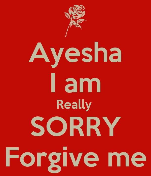 ayesha i am really sorry forgive me poster abrar keep calm o matic
