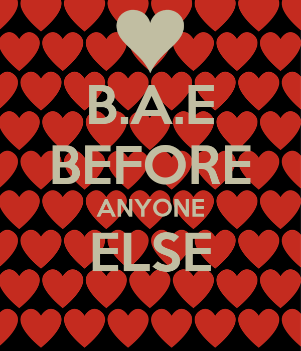 b a e before anyone else poster nikki