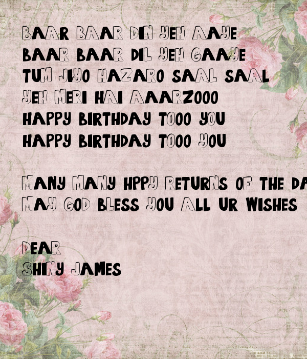 Saal hazaro to jiyo tum happy you birthday Jiyo Tum