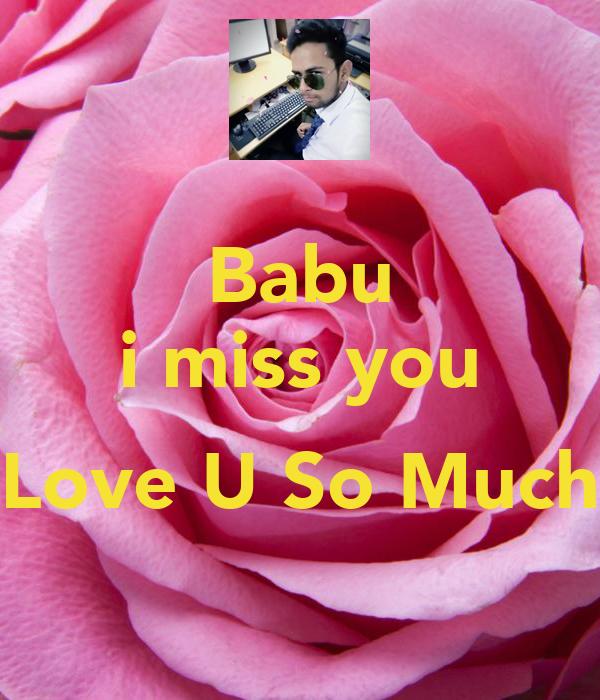 Babu I Miss You Love U So Much Poster Akshay Keep Calm O Matic