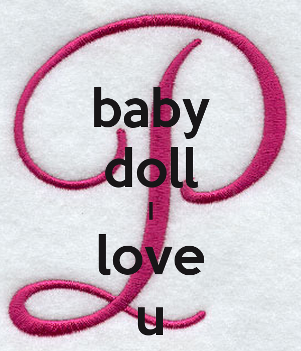 Baby Doll I Love U Poster Rocky Keep Calm O Matic