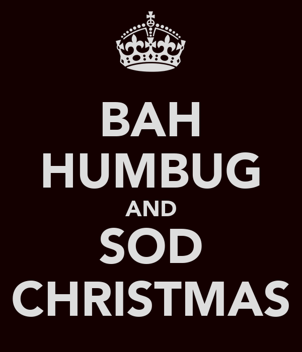 Bright side up christmas spirit where are you for Bah humbug door decoration