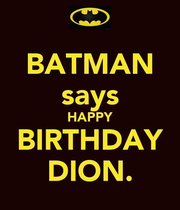 Batman Says Happy Birthday Dion Poster Mittens Keep