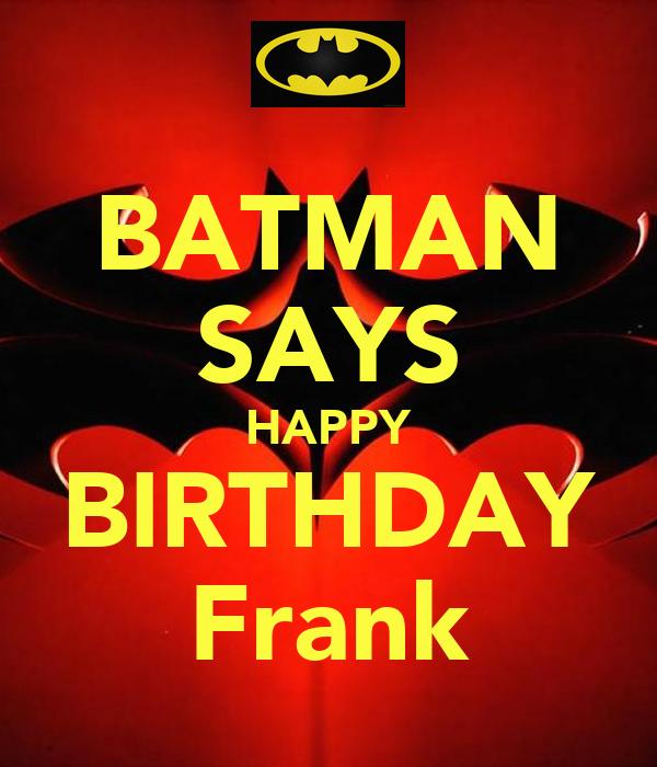 Happy Birthday Frank Cakes